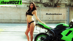 The Hottie and the NINJA Sportbike (Marknowhereman) Tags: sexy girl photo model shoot ninja super bikini sportbike kawasaki superbike zx6r 636 marknowhereman rheamdc21