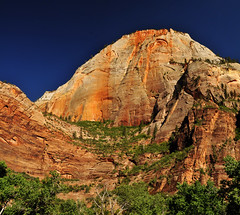 near weeping rock in zion national park 2013 (houstonryan) Tags: park print landscape photography landscapes utah sandstone photographer desert ryan may houston southern trail national photograph stunning 24 zion redrock overlook zone riparian 2013 houstonryan
