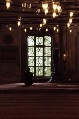 Prayer in a Mosque (Tinenit) Tags: istanbul vera sights arhitektura vernik interier ljudje kraji turija lui moeja peci plavamoeja