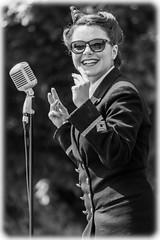 Singing Belle (Suggsy69) Tags: bw monochrome blackwhite nikon performance jazz swing singer d5200