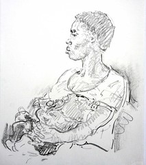 Joy with child (eidos11) Tags: switzerland drawing nigeria motherandchild grafit fromlife