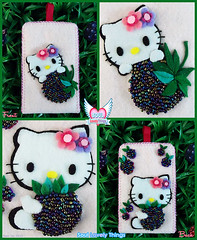 Berry Kitty (Soul Lovely Things) Tags: hellokitty cat hello kitty cute kawaii girl girly pink fruit berrykitty berry blackberry raspberry handmade craft crafts crafty mobile iphone case felt soullovelythings kawtharalhassan