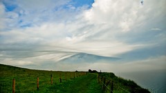 Fabric (mendhak) Tags: england cloud geotagged coast countryside day skies cloudy unitedkingdom walk fabric wispy stratus cirrus wisps buttery gbr fylingdales mendhakwebsite geo:lat=5445142863 geo:lon=053498268