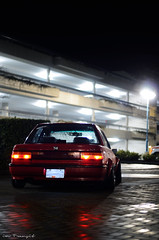 (lifeintransit) Tags: canada wet car wheel night sedan honda nikon low small lifestyle automotive columbia victoria stretch clean wires poke civic british rollers 13 ef fwd flares jdm slammed stance baller hellaflush d7000