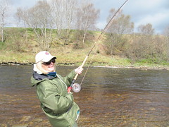 Danni Compton-Rickett was into a fish within half an hour on Monday morning, a good way to start a weeks fising.