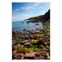 henry tudor's landing spot (khrawlings) Tags: blue sea seaweed green beach rock wales coast dale landing shore pembrokeshire millbay 1485 henryvii 2013 henrytudor khrawlings