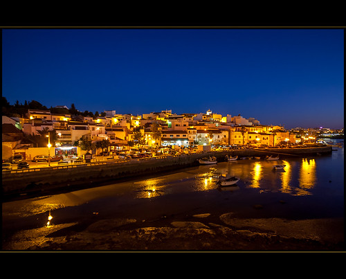 Ferragudo at the blue hour