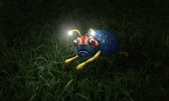 The Trody (Robert Cornelius Photography) Tags: light grass animal night bug lite eyes shoes colorful glow escape time critter running run plastic nightime glowing scared antenna antennas escaping