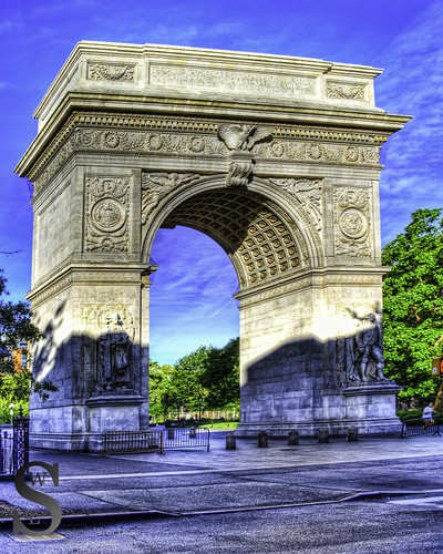 Washington Square Park The arch-