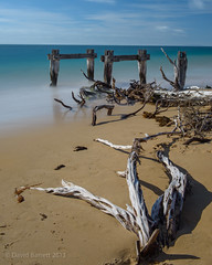 Woodwork (David Barrett, The) Tags: longexposure winter landscape pier jetty australia victoria driftwood coastal morningtonpeninsula ruined portsea pointnepean davidbarrett observatorypoint wwwinspiredbythelandscapecom