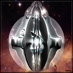 deep space probe (bloorose-thanks 4 all the faves!!) Tags: art digital 3d render fractal incendia