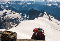 The Other Chris Tops Out (chriskruell) Tags: washington climbing rockclimbing northcascades mtshuksan highcamp mazamas alpineclimbing