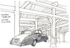 Villeréal (gerard michel) Tags: auto france sketch halle croquis aquitaine
