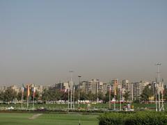Tehran City from Azadi Square (Alexanyan) Tags: city square persian iran flag capital persia iranian tehran teheran azadi middleast