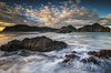 View back from Ninepin Rock (Nick Twyford) Tags: sunset newzealand clouds coast nikon waves wideangle auckland nz northisland westcoast whatipu leefilters 1024mm d7000 lee09nd lee06gndsoft