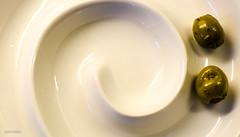 Last Two Standing! (BGDL) Tags: kitchen plate olives minimalism 7daysofshooting nikond7000 lightroom4 bgdl nikkor50mm118g minimalsunday week10thenumber2