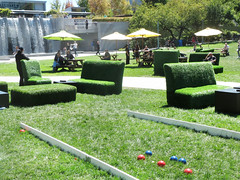 Grass Furniture (shaire productions) Tags: sf sanfrancisco california park green grass outdoors photography photo image furniture lawn picture pic event photograph gathering yerbabuena yerbabuenagardens imagery pedalpower
