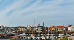 A ship in a harbour is safe, but this is not what a ship is built for (Wim Koopman) Tags: old houses roof sky holland netherlands dutch skyline harbor boat nikon colorful mediterranean day mood ship cloudy yacht nederland atmosphere zealand almost vlissingen flushing d5200