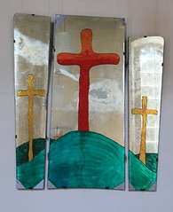 Old mirror becomes an altar! (:Linda:) Tags: germany village handmade kirche thuringia altar homemade inside chuch churchinside grosschwabhausen