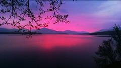 Loch Lomond Scotland (forthvalley) Tags: sunset reflection scotland redsky lochlomond flickrandroidapp:filter=none