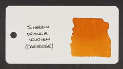J. Herbin Orange Indien - Word Card