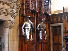 Suits of Plate (jere7my) Tags: greatbritain vacation castle scotland edinburgh edinburghcastle unitedkingdom armor fortress castlerock lances greathall 2014 platemail suitsofarmor embrah