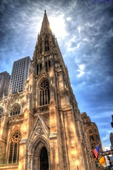 St Patrick's Cathedral Fifth Avenue NYC (Tryppyhead) Tags: newyorkcity usa church cathedral hdr 2015 nikond5000 photomatixpro4