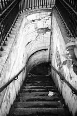 Going Down (romain@pola620) Tags: old uk greatbritain loo blackandwhite black london abandoned film public monochrome stairs danger analog dark grey gris blackwhite scary dangerous lomo lomography tmax3200 stair noir alone darkness noiretblanc kodak tmax sale decay hell neglected grain toilet nobody dirty stairway wc abandon londres restroom analogue grainy 3200 oldtown derelict publictoilet toilets toilettes deadend argentique noirblanc culdesac watercloset 3200iso pellicule arkham nobodyishere nobodyisthere analogique