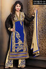 Akshara Blue Cream Georgette Palazzo Suit