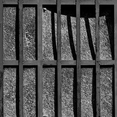 Dietro le sbarre. Behind bars B&W (sandroraffini) Tags: abstract reality light shadows urban details perception surreal spider bug bw square decay bars exploration minimalismo minimalism psicogeografia abandoned places zona industriale sandroraffini textures