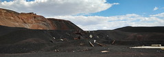 Pisgah Crater, Mojave Desert, CA (lotos_leo) Tags: pisgahcrater mojavedesert ca california cinder cone quarry black sand pumice landscape volcanic cinders mine pahoehoe crater            barstow sky terra outdoor mountains abandoned