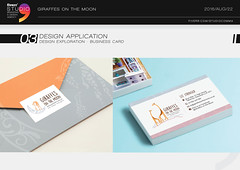 GOTM - Business card (Studio Comma - Branding & Design Agency) Tags: studio comma studiocomma graphic design art agency affordable fast online service gig fiverr business name card branding marketing identity greeting giraffes moon