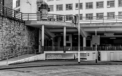 Welcome to Plymouth (Rich Walker75) Tags: plymouth devon projectimax blackandwhite blackwhite urban street construction