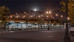 BROADWAY BRIDGE -55305-07- (Terry Frederic) Tags: bridges canon5dmkiii hdr lightroom661processed longexposure night oregon portland streetscene streets terryfrederic topazadjust5processed topazdenoiseprocessed usa