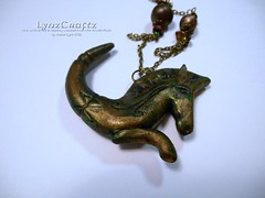 Sea Horse Antiquities (LynzCraftz) Tags: polymerclay resin swellegant steampunk handmade oneofakind jewelry necklace pendant