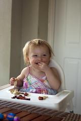 Emily eating (dan.oxlade) Tags: d40 nikon nikkor nikkor50mm118g holiday spain sunshine