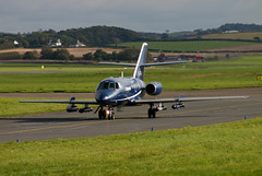 G-FRA0 on taxiway (Ayrshire Aviation Images) Tags: cobham dassault falcon20 prestwickairport bizjet military jet aviation aircraft