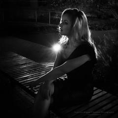 Film Noir IV (Passie13(Ines van Megen-Thijssen)) Tags: filmnoir filmnoirmood weert limburg netherlands woman blackandwhite fineart bw zw sw zwartwit monochrome monochroom monochrom canon sigma35mmart inesvanmegen inesvanmegenthijssen portrait portret night nacht evening avond nightscape passionphotography bestportraitsaoi