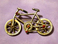Bicycle Brooch (dog.happy.art) Tags: vintage bicycle brooch pin collectible collectable collection jewelry accessory
