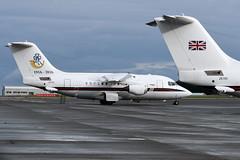 ZE700 and ZE701 (WestwardPM) Tags: bae bae146 ze700 ze701 royalairforce raf newquayairport cornwallairportnewquay 32squadron