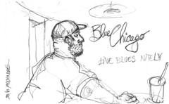 Chicago, Blue Chicago (Croctoo) Tags: croctoo croquis croctoofr crayon chicago bar concert blues