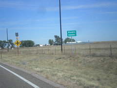 CO-71 North - Punkin Center (sagebrushgis) Tags: welcomesign biggreensign sign colorado lincolncounty co71