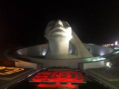 Maya-Kopf im Kreisverkehr