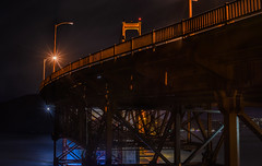 over battery e (pbo31) Tags: sanfrancisco california nikon d810 color november 2016 fall boury pbo31 city goldengatebridge 101 bridge orange presidio goldengatenationalrecreationarea black night dark over steel support