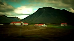 From Iceland. (Tta. 27.12.1964.) Tags: landscape nature iceland sland mountain oldhouses