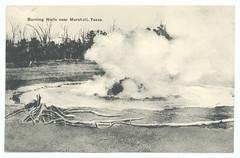 Burning Wells near Marshall, Texas. (SMU Central University Libraries) Tags: oilfields oilwells petroleum