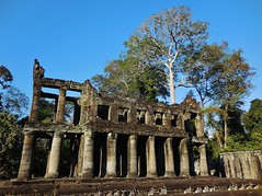 Preah Khan architecture (SM Tham) Tags: asia cambodia angkor unescoworldheritagesite preahkhan khmer stone temple architecture building columns plinth trees sky outdoors