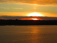 Sunset over Southampton Water (ROBTHEGOB) Tags: landscape seascapes seascape landscapes river rivers england englishcoast southampton sunset waterways waterway waterfront southamptonwater estuary solent