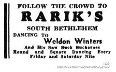 1939 rarik's south bethlehem (albany group archive) Tags: albany ny 1939 rariks south bethlehem weldon winters saw buck buckaroos