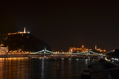 Budapest (ffruzsi.) Tags: budapest buda pest liberty bridge bridges gellrt hill town city europe castle danube river hungary nikon d5100 evening night urban photography light lights nightlife two sides winter fall autumn dark 50mm bp water architecture landscape gellert